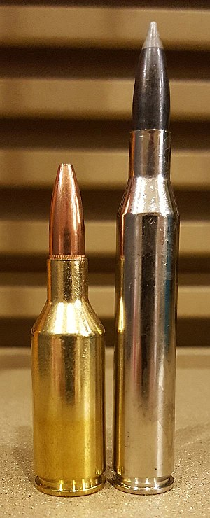 .25 Winchester Super Short Magnum - The 25 WSSM has similar ballistics to the .25-06 but in a much shorter case.
