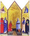 25 Triptych Crucifiction and Saints (55x45)1400-10 Siena, Pinacoteca.jpg