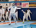 2nd Leonidas Pirgos Fencing Tournament. Advance lunge targeting the arm of the opponent.jpg