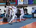 2nd Leonidas Pirgos Fencing Tournament. Double touch for the fencer Vasileios Stantsios and his opponent.jpg