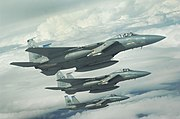 389th Fighter Squadron - 3 ship F-15E Formation
