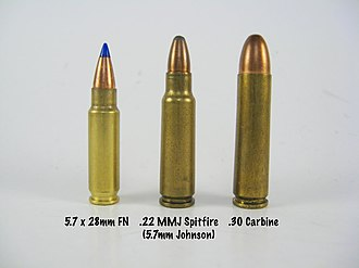 .22 Spitfire - Image: 5.7mm Johnson Spitfire