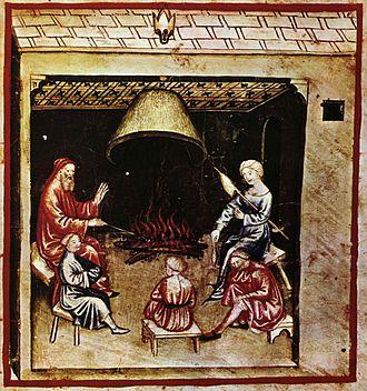 Vigil - Vigil, tacuinum sanitatis casanatensis (14th century)