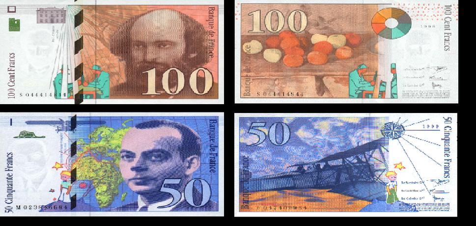 50 ve 100 fransiz frangi