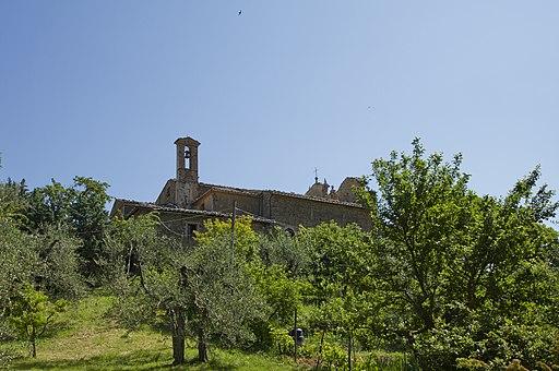 La chiesa di Sant'Antonio, Montalcino, vista dal Viale Strozzi