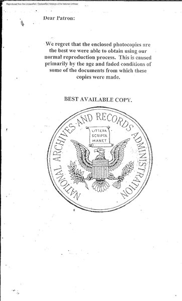 File655th Engineer Topographical Battalion Memos And History Book