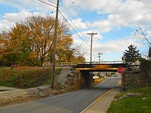 Seven Valleys, Pennsylvania - Northern Central Railroad bridge over Main Street