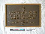 80-42-N, Plaque, Superior Combat Performance, USS CHICAGO CG-11 (7901531742).jpg