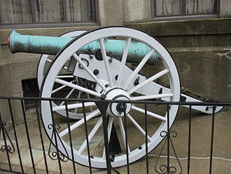 Royal Canadian Military Institute - One of two bronze 9 pounder guns owned by the RCMI