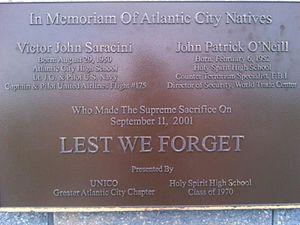 John P. O'Neill - 911 Memorial Atlantic City Boardwalk 01