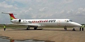 Africa World Airlines - Image: 9GAET in Kumasi