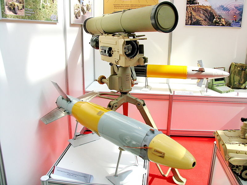 اقوى الصواريخ المضادة للدروع بالعالم  800px-9M133_Kornet