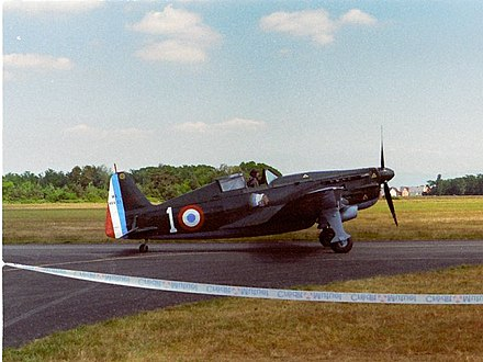 The French Armee de l'Air flew Morane-Saulnier M.S.406 fighters (a preserved specimen is shown). MauraneSaulnier406.jpg