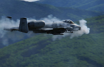 A U.S. Air Force A/OA-10 Thunderbolt II from t...