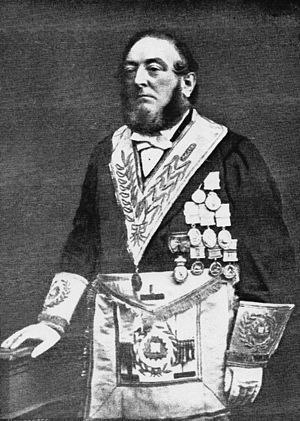 Adolphus Frederick Alexander Woodford - A. F. A. Woodford in the regalia of Grand Chaplain (UGLE)