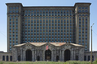 Detroit - Michigan Central Station and its Amtrak connection went out of service in 1988