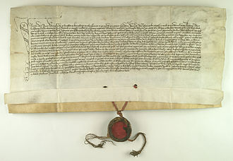 Rectors of the Jagiellonian University - Document authorized by Jan Kro, rector in 1420.