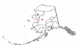 Location of Galena, Alaska