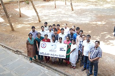 ALC Wiki winter camp Telugu dept students.JPG