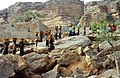 ASC Leiden - W.E.A. van Beek Collection - Dogon daily life 15 - The women from Tireli, Mali come back from the market in the neighboring village, Tireli, Mali 1990.jpg
