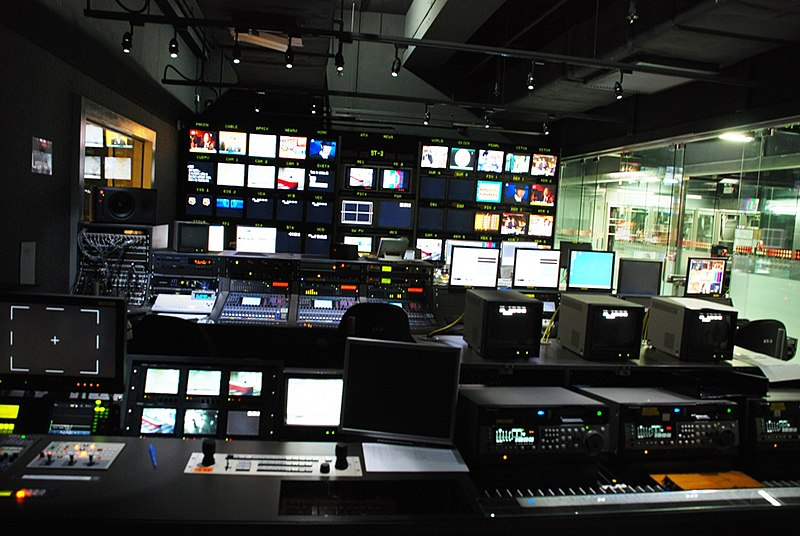 File Atv News Studio Control Room Jpg 維基百科,自由的百科全書