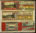 A D Willis (Wanganui) -(Three labels - West Coast Meat and Produce Export Co Ltd (Patea). New Zealand boiled beef, and New Zealand brawn; and, Mitchell and Richards Tinned Meats, Wanganui. Ox tongues. (21307252675).jpg