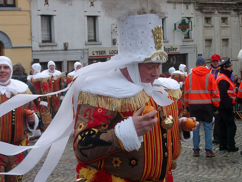 A Gille in full dress, Carnival of Morlanwelz, Belgium