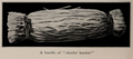 A bundle of slender kanten, photo from The Encyclopedia of Food by Artemas Ward.png