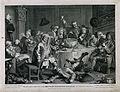 A drunken party with men smoking, sleeping and falling to th Wellcome V0019475.jpg