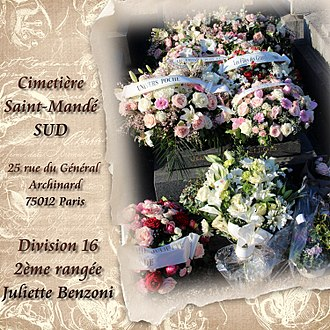 Juliette Benzoni - Resting place of Juliette Benzoni
