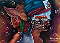 A mural painted at the inauguration of a USAID-funded market in Haiti (5784287320).jpg
