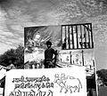 A rear view of a Congress election procession depicting landmarks in the Indian independence movement.jpg