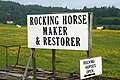 A rocking horse sign near Ashkirk - geograph.org.uk - 1372442.jpg