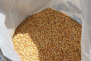 Split pea - A sack of split peas