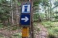 A toilet sign by the lake Lake Gisslaren, hiking trail Upplandsleden, Sweden 20.jpg
