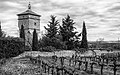 Abbaye de Cassan - Tower BW.jpg