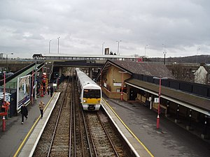 Abbey Wood railway station - Station platforms, looking eastbound