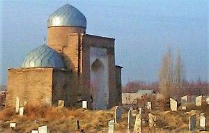 Sayram (city) - Three-Domed Mausoleum of 'Abd al-'Azīz-baba and Seyt Kozhakhan-ata, originally built by the order of Timur