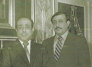Abdul Latif Galadari -  Abdul Latif Galadari (right) with brother Abdul Rahim Galadari