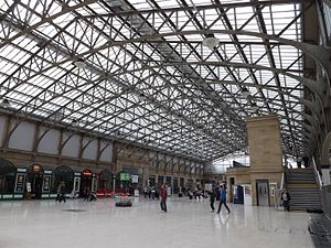 Aberdeen railway station - Concourse at Aberdeen station.