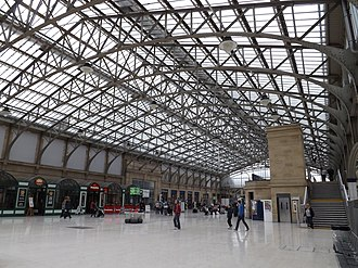 Aberdeen railway station - Concourse at Aberdeen station