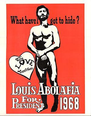Louis Abolafia - A 1968 Campaign Poster