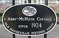 Abry-McMath Cottage, circa 1924 - historical plaque - 2535 Lakeshore Drive, Mandeville, Louisiana (50534825761).jpg