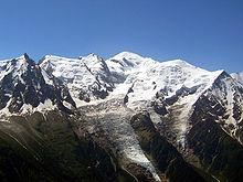 Panorama de sommets enneigés.