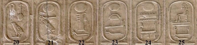 Archivo:Abydos Koenigsliste 20-25.jpg