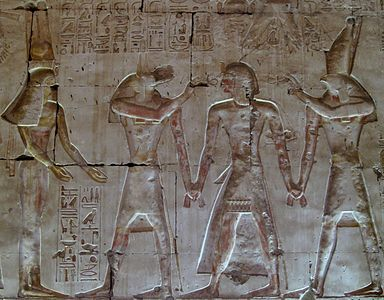 Fresque du temple de Séthi à Abydos.