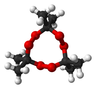Acetone peroxide - Image: Acetone peroxide trimer from xtal 2009 3D balls