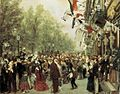Adolph von Menzel - William I Departs for the Front, July 31, 1870 - WGA15056.jpg