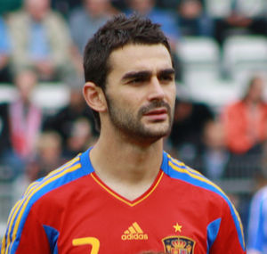 Adrián López - Adrián before a game with Spain under-21s