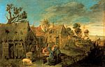 Adriaen Brouwer - Village Scene with Men drinking.jpg